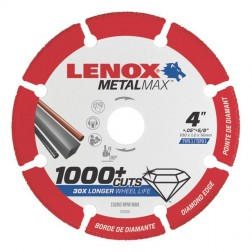 "Lenox METALMAX Cut-Off Wheel - 4"" Diameter, .050"" Thickness, ⅝"" Arbor, 1972920"
