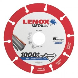"Lenox METALMAX Cut-Off Wheel - 5"" Diameter, .050"" Thickness, ⅞"" Arbor, 1972922"