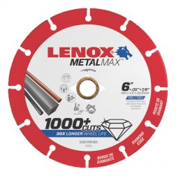 "Lenox METALMAX Cut-Off Wheel - 6"" Diameter, .050"" Thickness, ⅞"" Arbor, 1972923"
